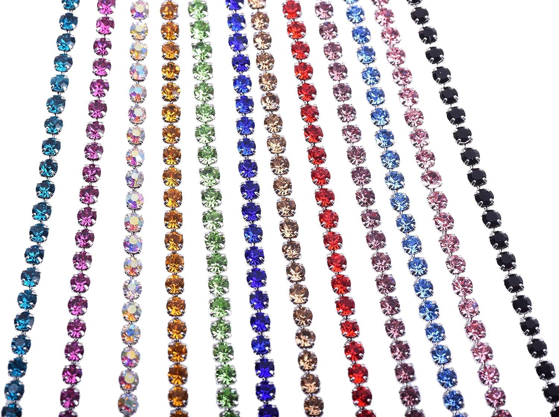 Dallas Mall KAOYOO 12 Yards Crystal Rhinestone Chain Mixed for Tucson Mall DIY Sewi Trim