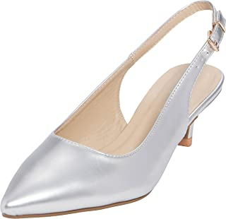 Cambridge Select Women's Pointed Toe Slingback Kitten...