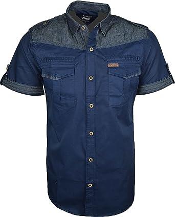 para Hombre Funda rígida para Tela Vaquera Moda Camisas ...