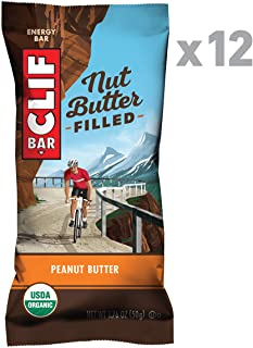Clif Nut Butter Filled - Organic Snack Bars - Peanut Butter - (1.76 Ounce Protein Snack Bars, 12 Count)