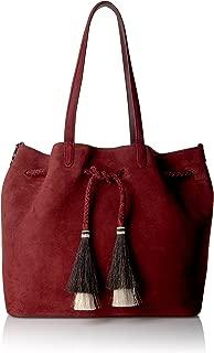 LOEFFLER RANDALL Drawstring Tote (Suede/Horse Hair) Top Handle Bag