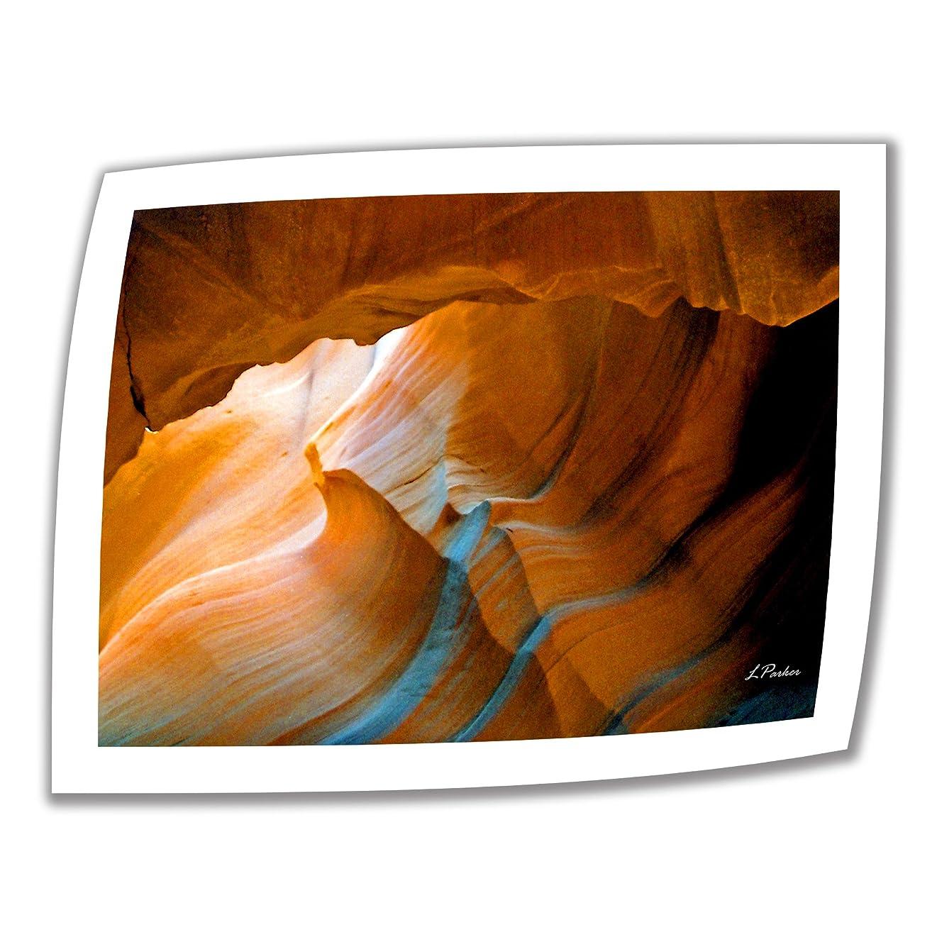人気の驚きマーティフィールディングArt Wall Slot Canyon V 24 x 32インチ アンラップキャンバスアート リンダ?パーカー作 2インチアクセントボーダー