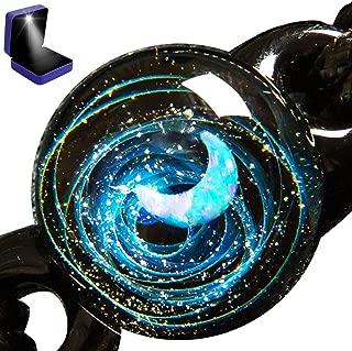 Pavaruni Original Galaxy Pendant Necklace, Universe Glass, Space Cosmos Design,Birthday..