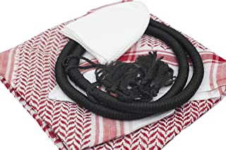 SQP Keffiyeh Set for Men, Ghutra set, Red or Black Arabian Scarf Set, Arabian Fashion