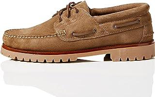 Marque Amazon - find. Chaussures bateau en cuir, Homme