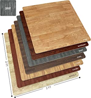 Sorbus Wood Grain Floor Mats Foam Interlocking Mats Tile 3/8-Inch Thick Flooring Wood Mat..