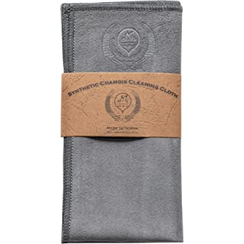 MI&VI Synthetic Chamois Microfiber Instrument Cleaning & Polishing Cloth for Violin, Viola, Cello, Bass, Guitar 12x12in (Charcoal-Grey)