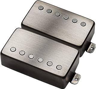 EMG 57/66 Bridge and Neck Humbucker Guitar Pickups Set, Brushed Black Chrome