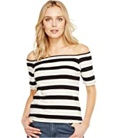 Splendid - Seaboard Stripe Off Shoulder Top