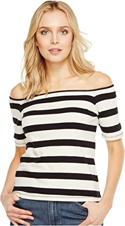 Seaboard Stripe Off Shoulder Top