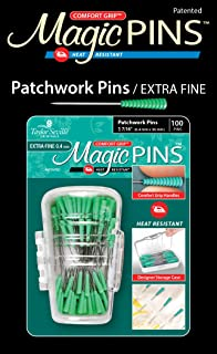 Taylor Seville Originals Comfort Grip Magic Pins Patchwork Extra Fine -Quilting Supplies-Sewing Supplies-Sewing Notions-100 Count