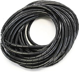 33FT PE 3/8 بوصة (10 مم) سلك لف لولبي بولي إيثيلين أسود لكابل إدارة الكمبيوتر للسيارة