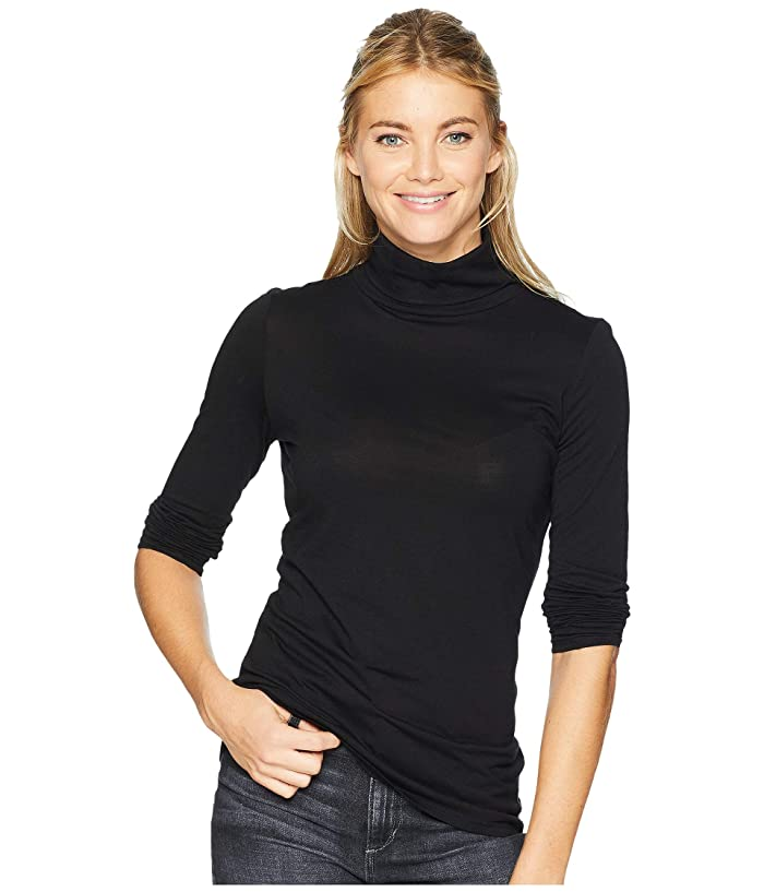 Long Sleeve Turtleneck (Black) Women's Clothing