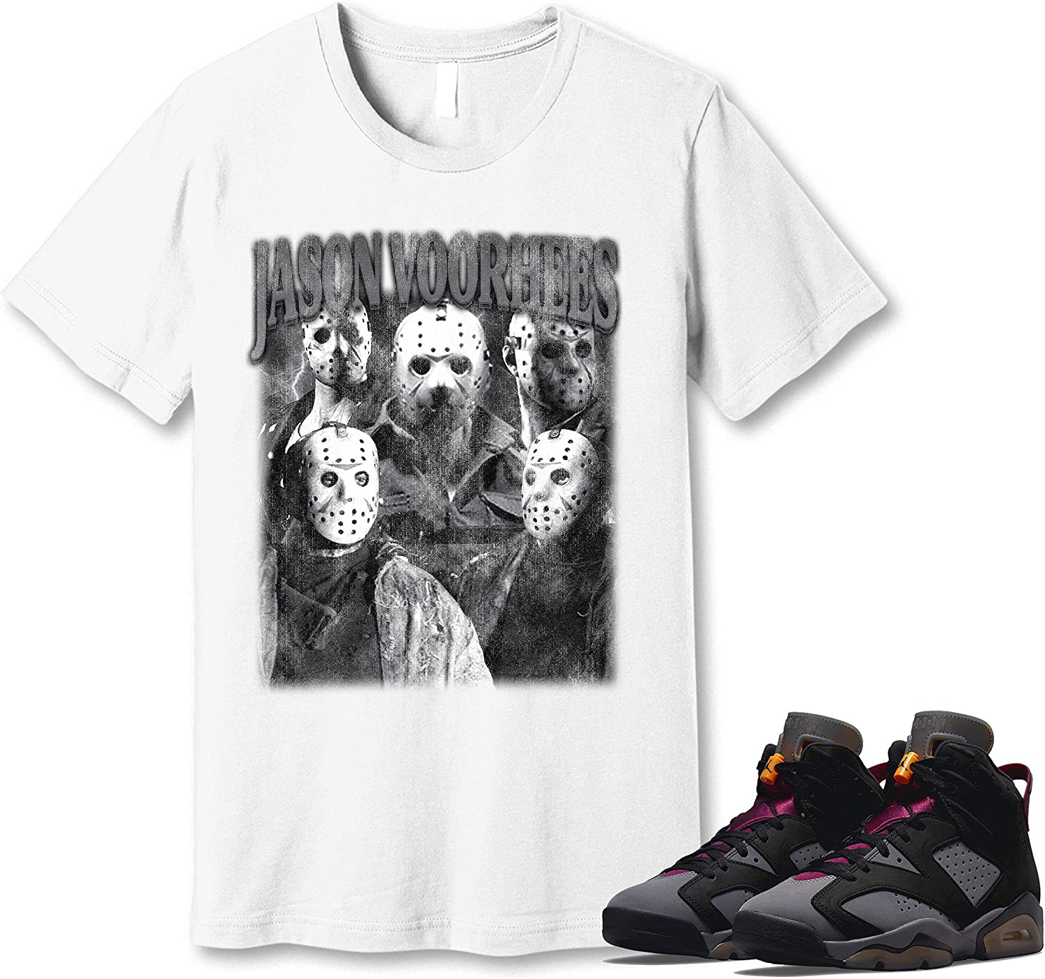 #Jason #Voorhees T-Shirt to Match Sneaker Bordeaux Genuine Free Shipping Max 78% OFF Snkr 6 Jordan