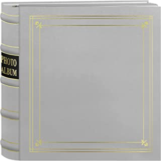 Pioneer 200-Pocket Ring Bonded Leather with Gold Accents Cover Photo Album for 4 x 6-Inch Prints