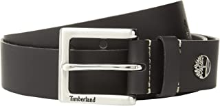 حزام أمان جلدي للرجال من Timberland بني داكن 42