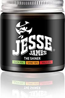 Famous Outlaws - Hair Styling Products For Men - Gel, Wax, Cream, Clay, Shiner, Shaper - Strong Slick and Shine Wild West 4.06 Oz / 120 ml (Jesse James: The Shiner Gel)