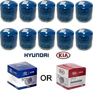 Genuine OEM Hyundai & Kia Oil Filter 26300-35505 (New Version of 35504) (10-pack)