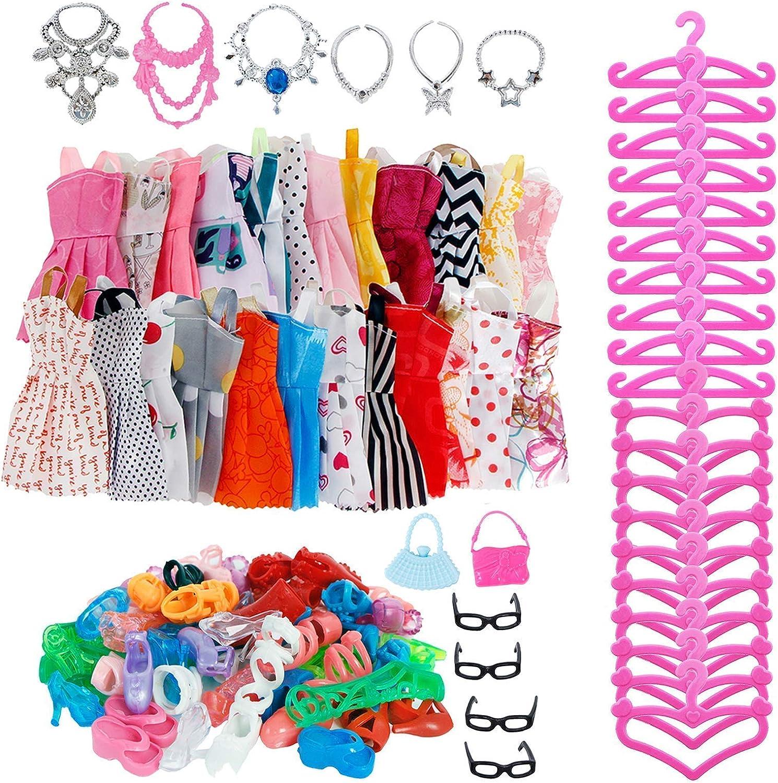 BJDBUS service 92 Pcs = 60 Hangers Random Dresses Access and Ranking TOP18 22 Mini 10