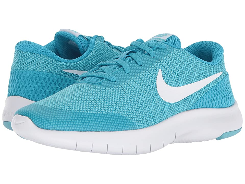 Nike Kids Flex Experience Run 7 (Big Kid) (Light Blue Fury/White/Bleached Aqua) Girls Shoes