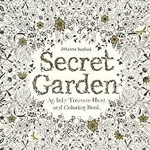 Secret Garden: An Inky Treasure Hunt And Coloring Book (Turtleback School & Library Binding Edition)