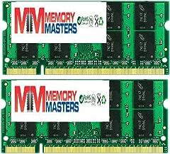 MemoryMasters 4GB 2X 2GB DDR2 533MHz PC2-4200 PC2-4300 DDR2 533 (200 PIN) SODIMM Laptop Memory