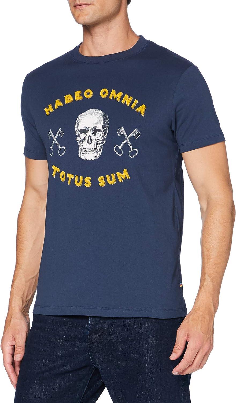 Springfield Camiseta Estampada Calavera T-Shirt para Hombre