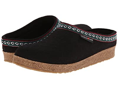 Haflinger GZ Classic Grizzly (Black) Clog Shoes