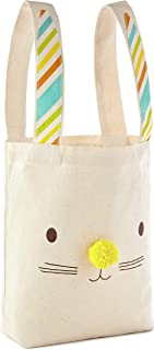Hallmark Large Easter Canvas Tote Bag (Bunny Ears) for Easter Baskets, Egg Hunts, Spring Birthdays and More