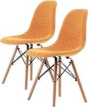 La Bella Replica Eames DSW Dining Chair - Light Orange X2