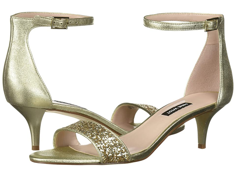 Nine West Leisa Heel Sandal (Light Gold Multi Metallic) Women