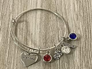 Handmade US Marine Corps Grandma Bracelet, Custom Proud Marine Grandma Charm Bracelet - Makes Perfect Grandma Gifts
