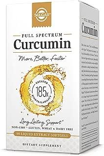 Solgar Full Spectrum Curcumin - 90 Liquid Extract Softgels - Brain, Joint, Immune Support Supplement, Anti inflammatory, Antioxidant - Non-GMO, Gluten Free - 90 Servings