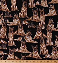 german shepherd print fabric