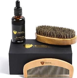 SAILINE 2018 New Beard Grooming & Trimming Kit for Men Care Beard Brush Beard Comb Beard Oil Conditioner Mustache Beard Balm Butter 3 in1 Travel Gift Set