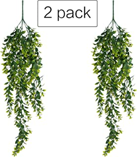 "39"" Boxwood Garland Artificial Plants Greenery Garland Fake Hanging Plants Greenery Vine Garland UV for Home Shelve Wall Indoor Outside Hanging Basket Decor"