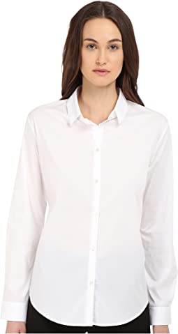 Shirt in Stretch Poplin