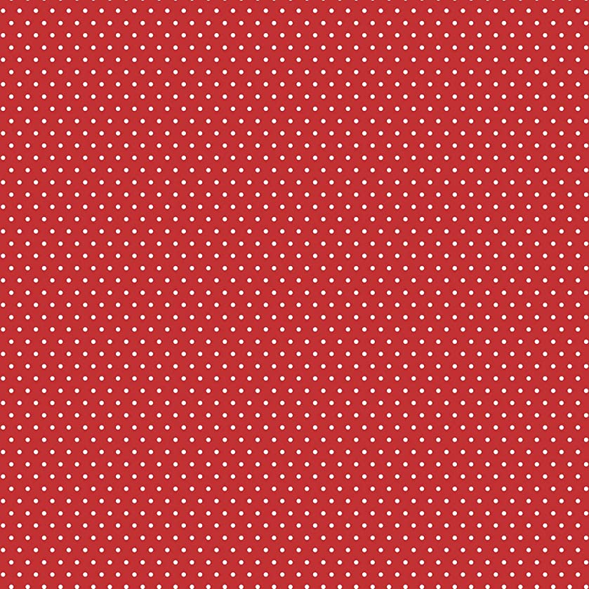 American Crafts Core'dinations 12 Pack of 12 x 12 Inch Patterned Paper Red Small Dot,
