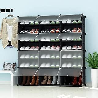 Unidad Entrelazada Organizador de Almacenamiento de Bricolaje para Bolsas de Ropa Juguetes SONGMICS Estanter/íapara Zapatos de 16 Rect/ángulos 22 x 35 x 22 cm Cada Ranura Gris LPC44G