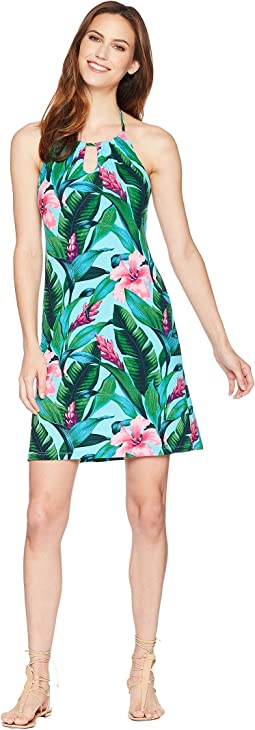 Tommy Bahama Tulum Blooms Halter Dress