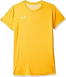 Nivia 2211XL3 Oxy Fitness Polyester Training T-Shirt, X-Large (Yellow)