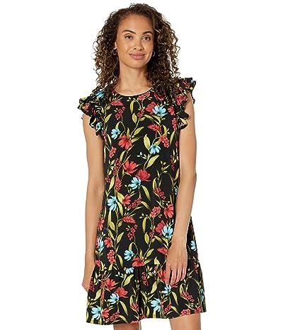CeCe Ruffle Sleeve Garden Floral Dress