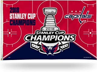 Rico Industries Washington Capitals 2018 Stanley Cup Champions 3x5 Flag