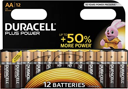 Duracell Plus Power Piles Alcalines type AA, Lot de 12 piles