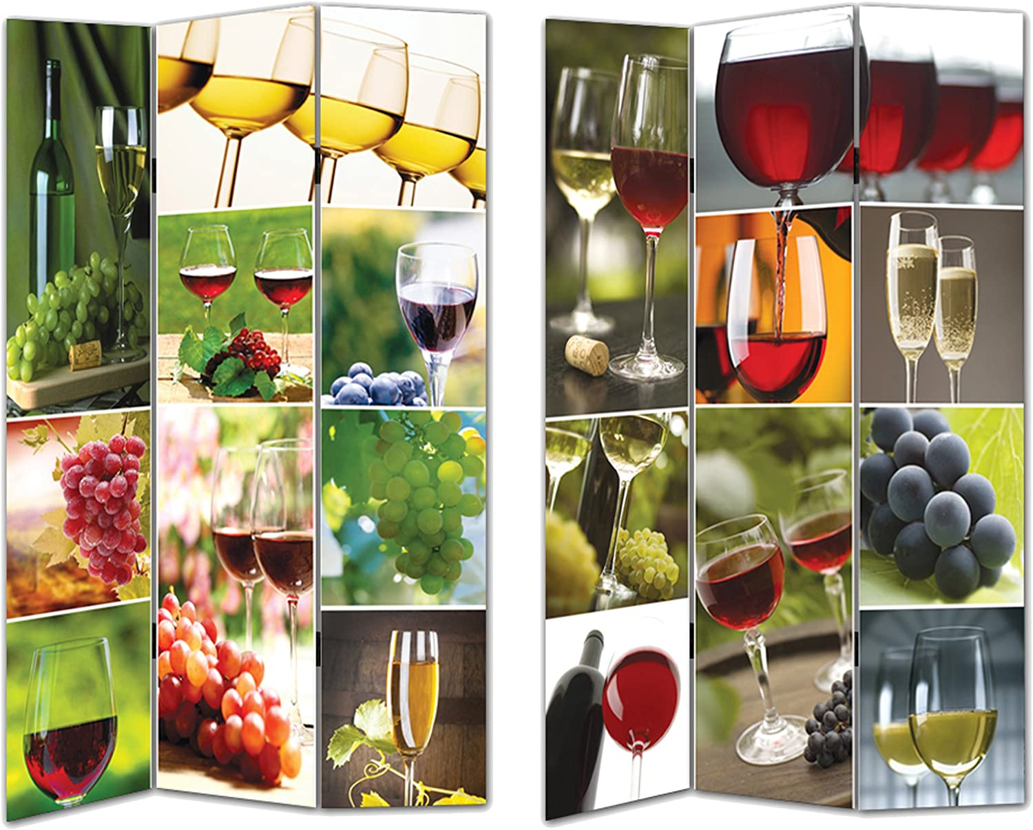 Essential Decor Entrada Collection Wine Room Divider, 72 by 48 by 1-Inch