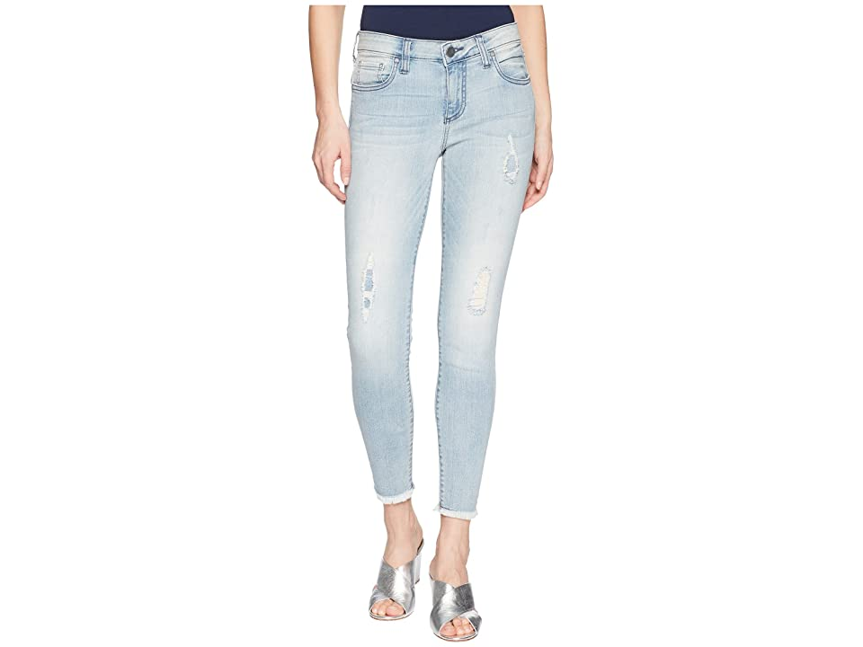 KUT from the Kloth Connie Crop Skinny Jeans w/ Fray Hem in Esthetic/New Vintage Base Wash (Esthetic/New Vintage Base Wash) Women