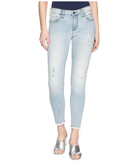 Connie Crop Skinny Jeans W/ Fray Hem In Esthetic/New Vintage Base Wash, Esthetic/New Vintage Base Wa