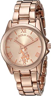 U.S. Polo Assn. Women's Quartz Watch with Alloy Strap,...