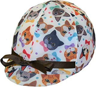 Equestrian Riding Helmet Cover - Crazy Cats