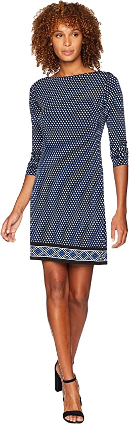 Alston Boat Neck Border Dress